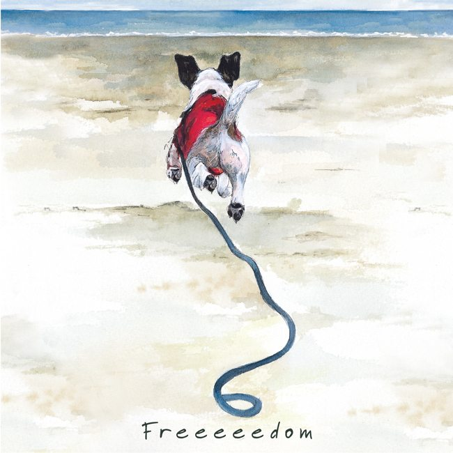 Dog Greeting Card - Freedom