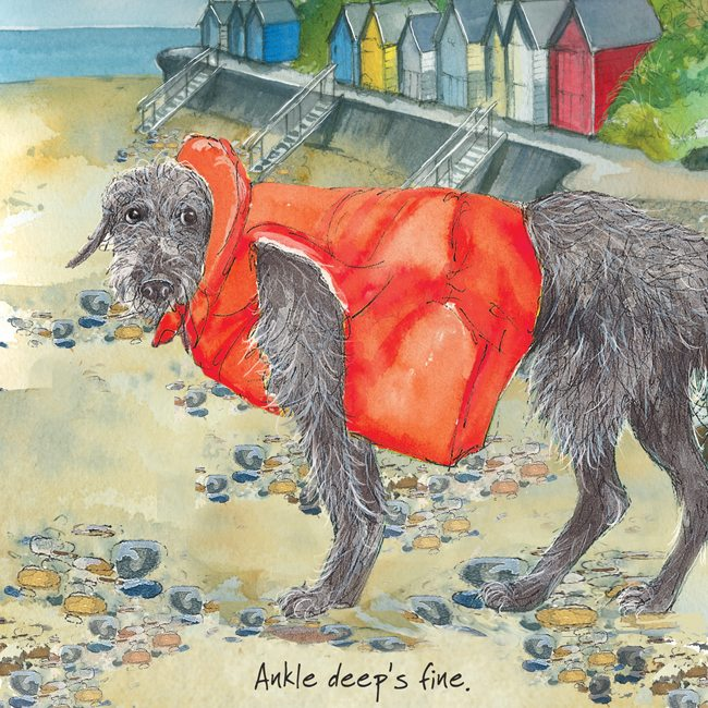 Dog greeting card - Ankle