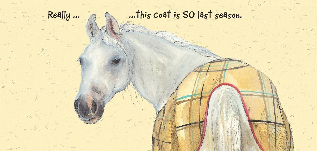 White Horse Greeting Card Last Season The Little Dog Laughed