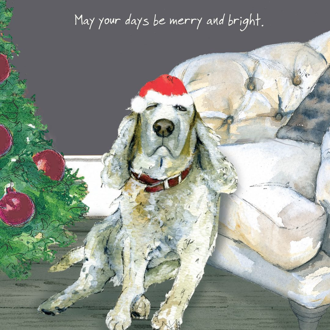 Golden Oldie Dog Christmas Card - The Little Dog Laughed